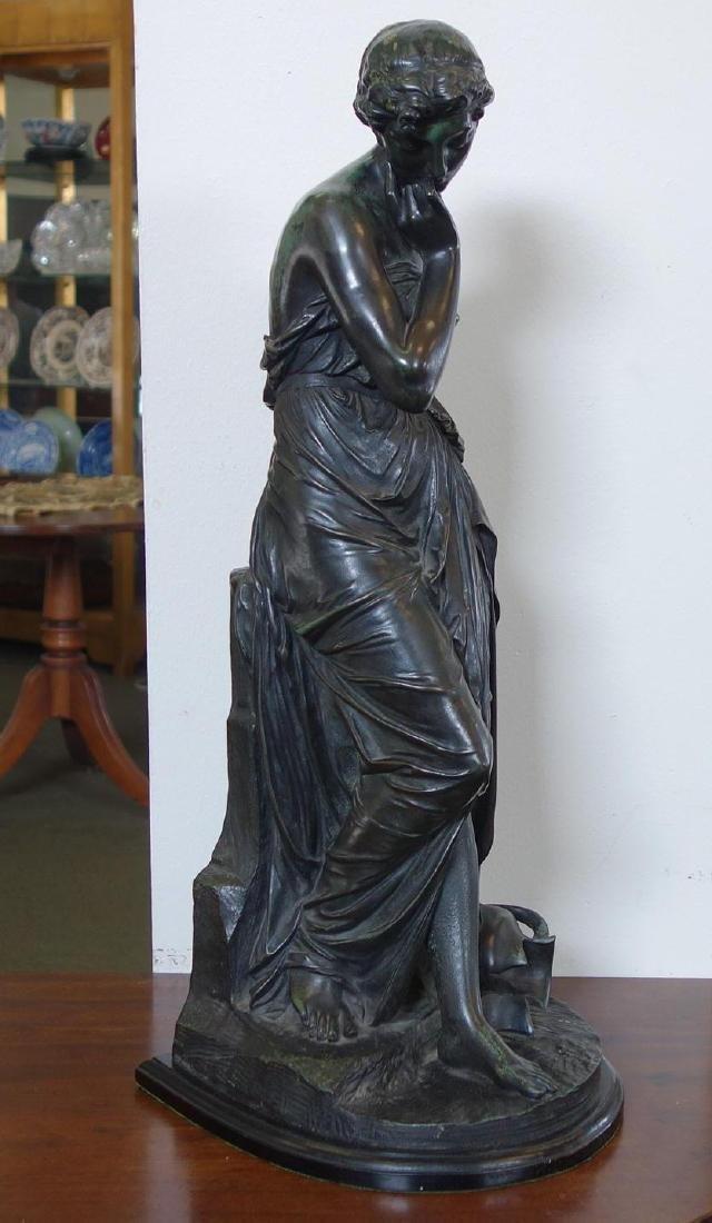 Emile Carlier (1849-1927) Bronze, La Cruche Cassee - 2