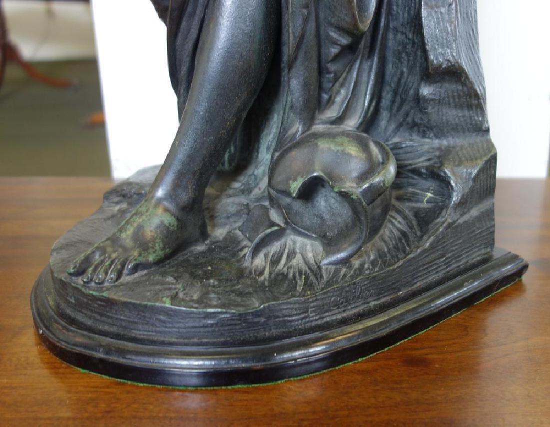 Emile Carlier (1849-1927) Bronze, La Cruche Cassee - 3