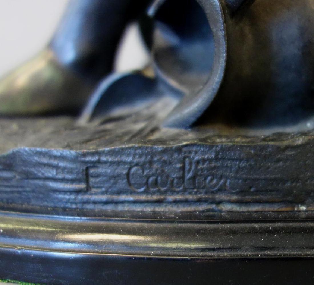 Emile Carlier (1849-1927) Bronze, La Cruche Cassee - 5