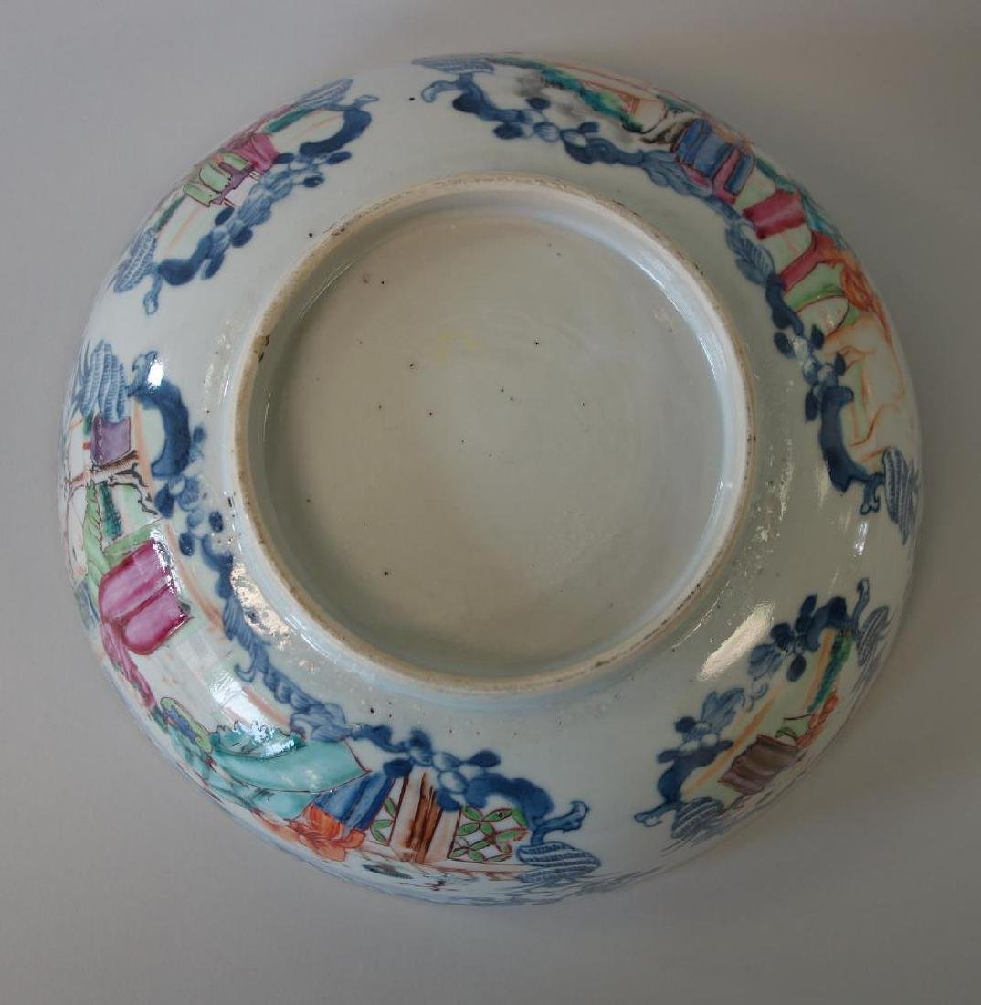 18thc Chinese Famille Rose Porcelain Punch Bowl - 5