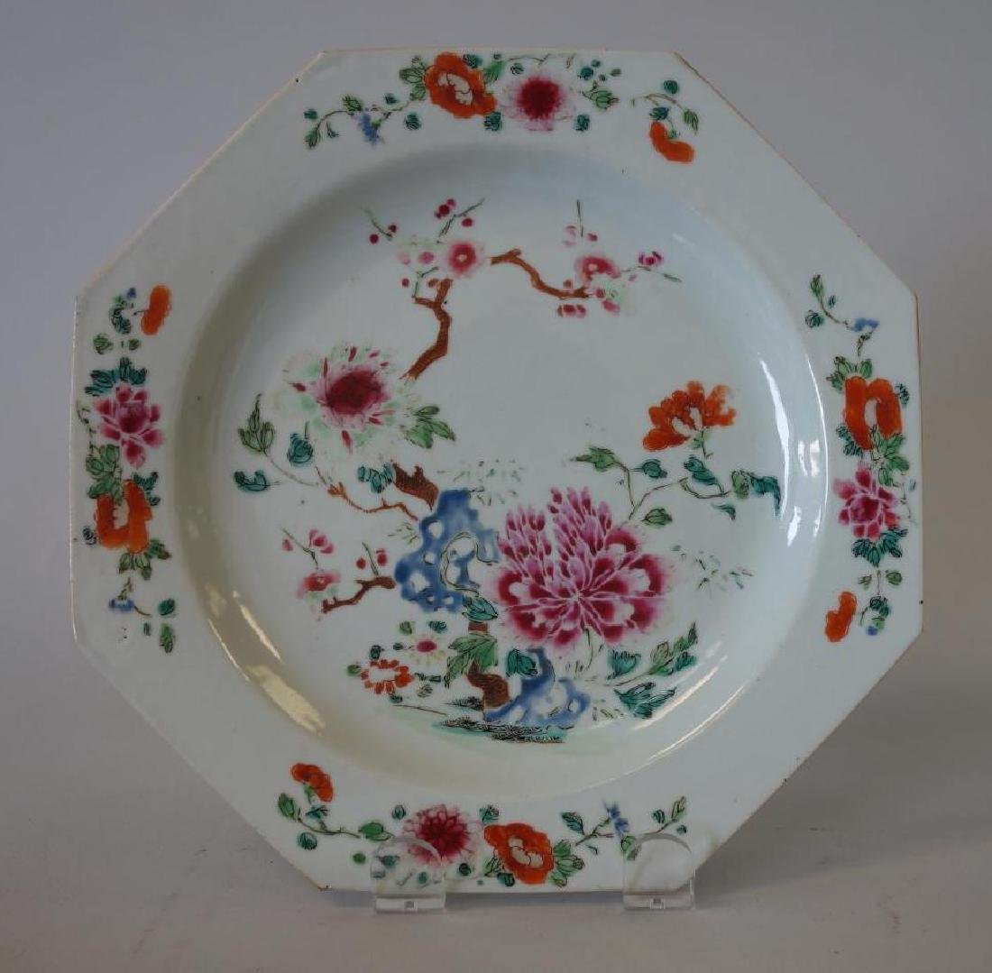 18thc Chinese Export Famille Rose Porcelain Plates - 2