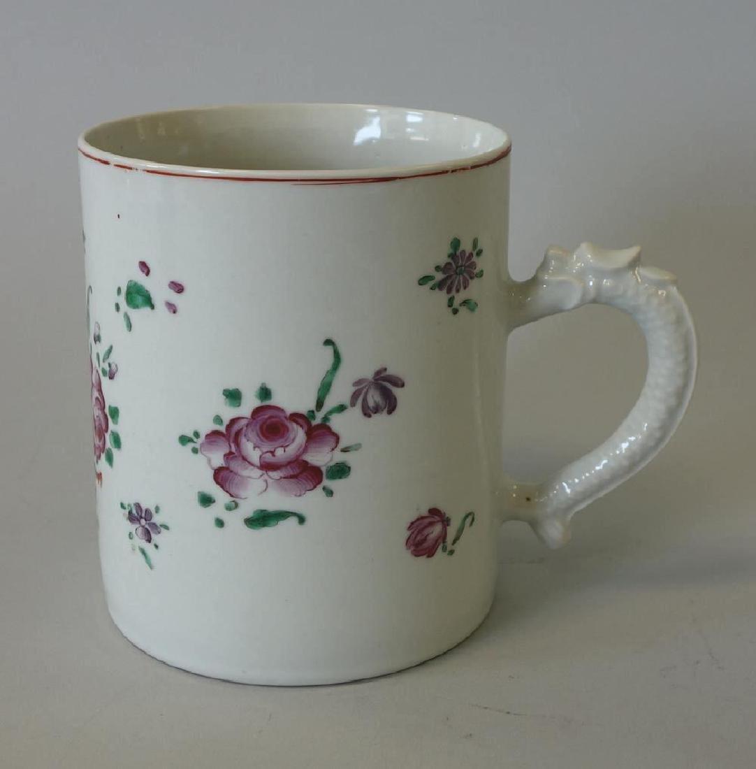 18thc Chinese Export Porcelain Mug, Dragon Handle
