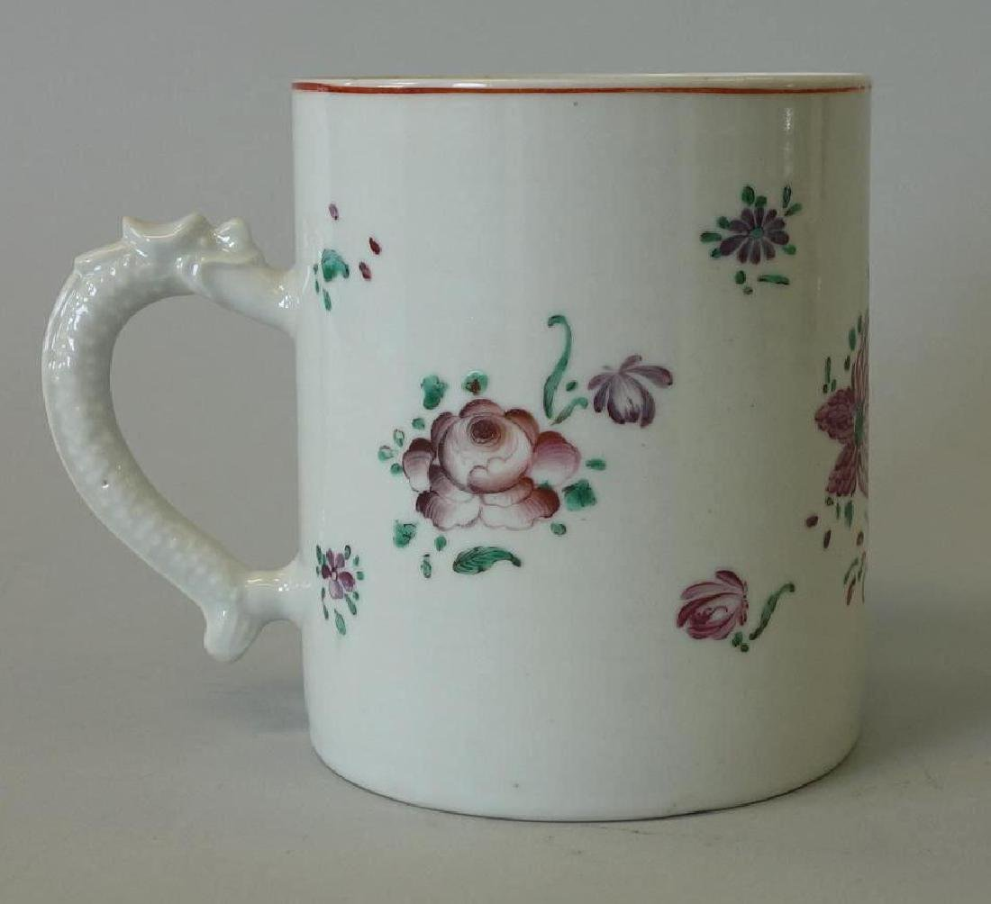 18thc Chinese Export Porcelain Mug, Dragon Handle - 2