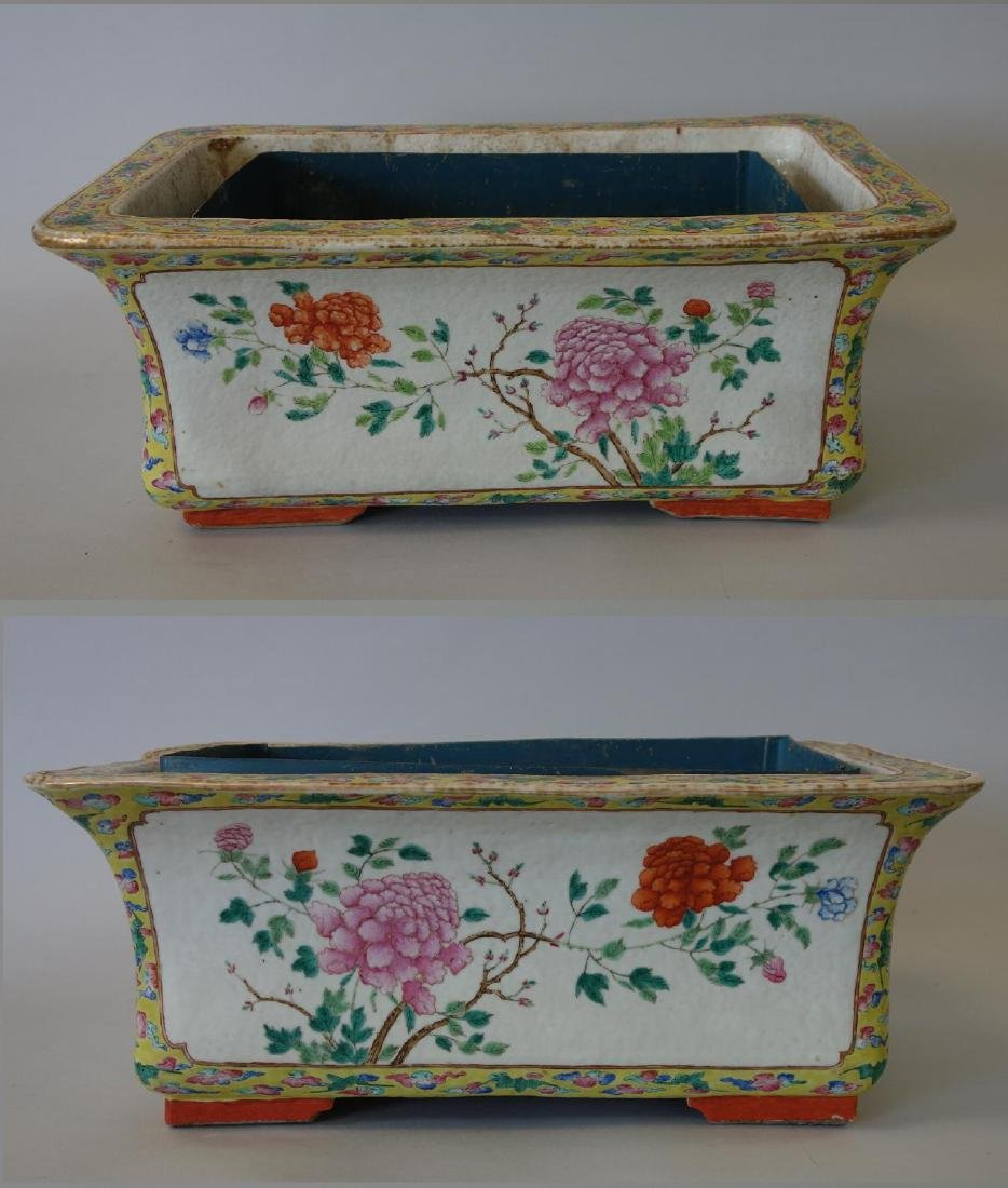 Chinese Famille Rose Porcelain Planters, Pair - 6