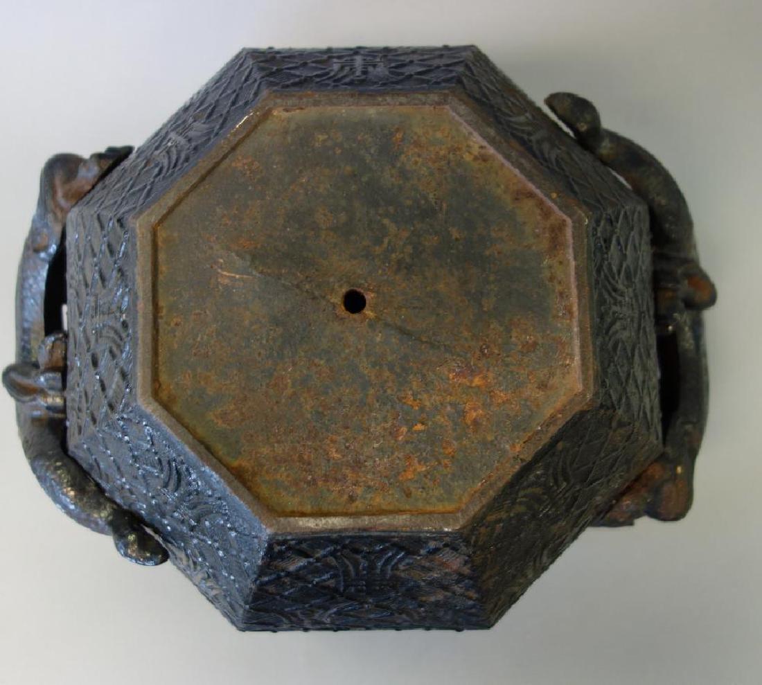 Chinese Octagonal Iron Planter, Chilong Dragon - 4