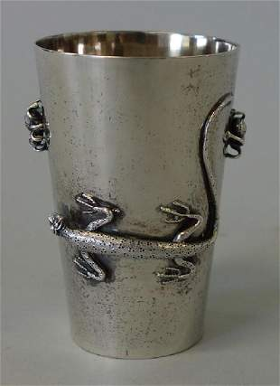 Hung Chong Chinese Export Silver Beaker Cup