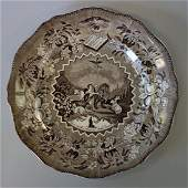 19thc Staffordshire Millenium Plate Peace on Earth