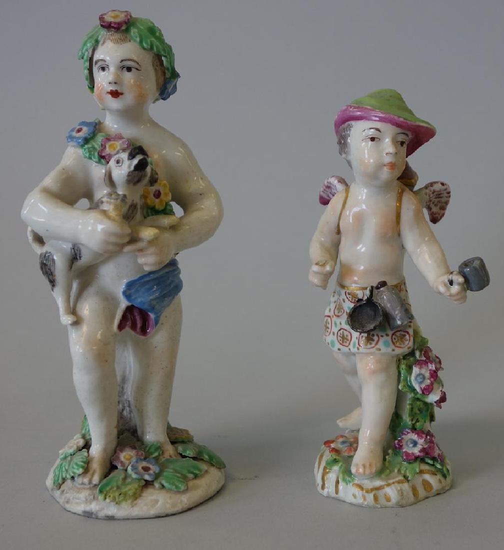 18thc Chelsea / Derby Porcelain Male Figures