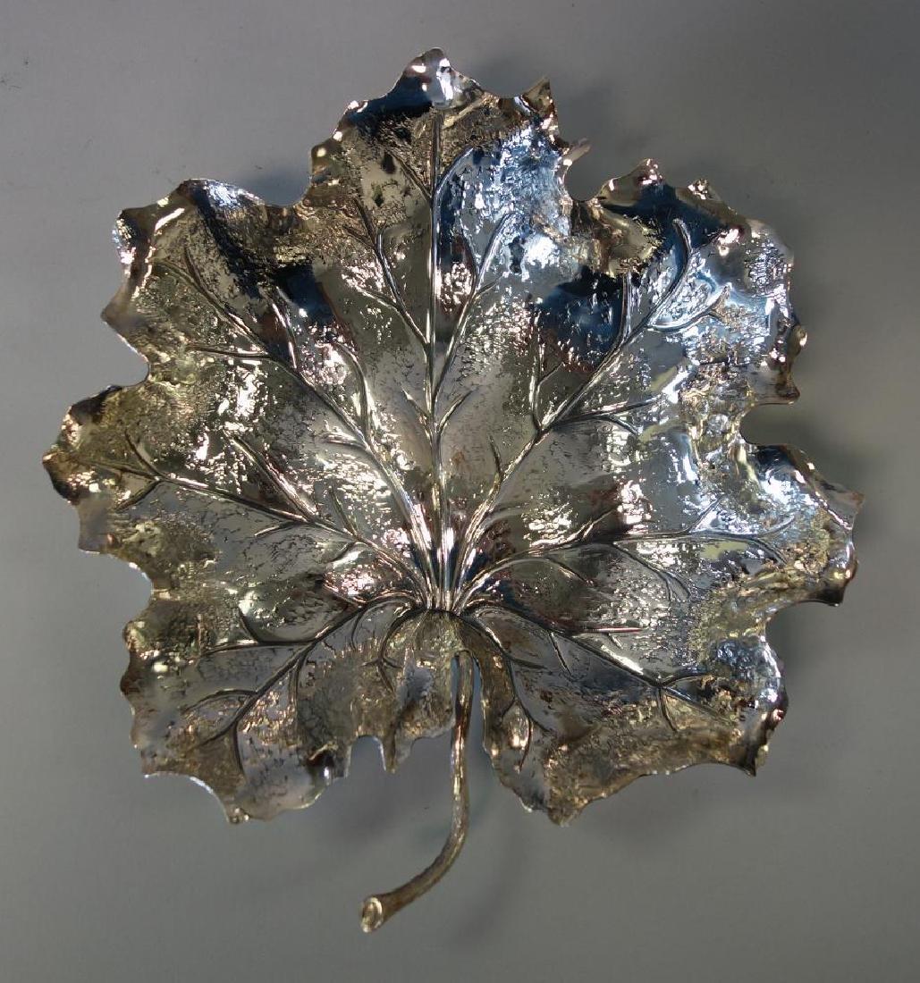Gianmaria Buccellati Sterling Leaf Formed Dish