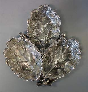 Gianmaria Buccellati Sterling Acorn Leaf Dish