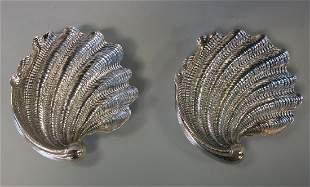Gianmaria Buccellati Sterling Seashell Trays, Pair