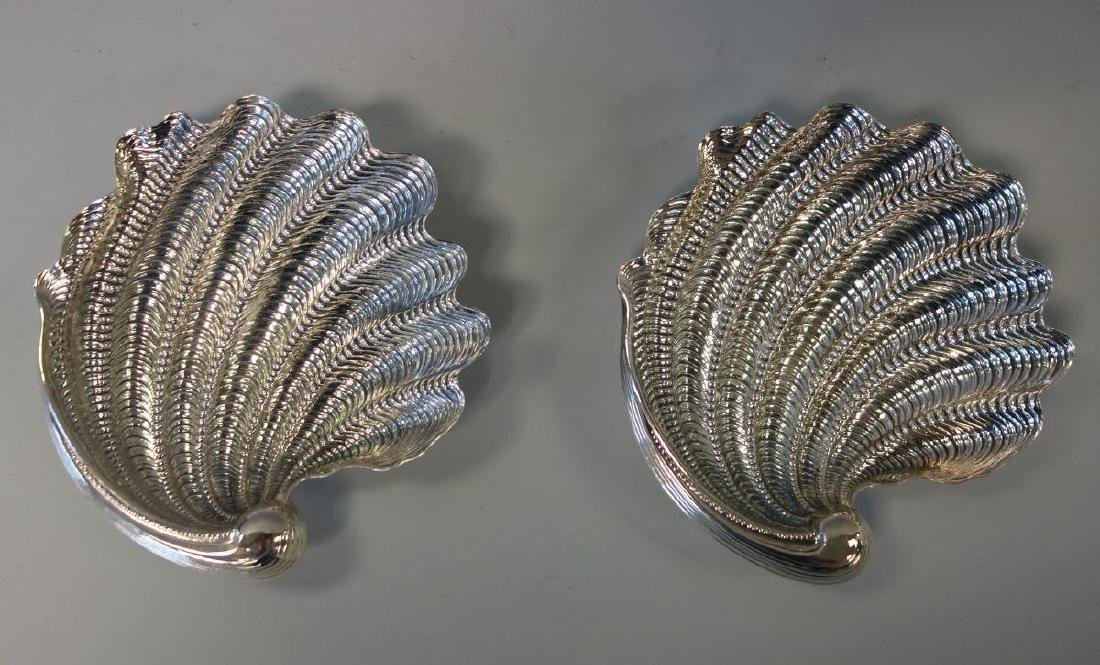 Gianmaria Buccellati Sterling Seashell Trays, Pair