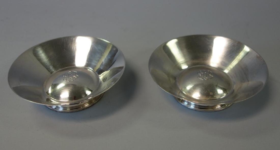 Jean Puiforcat 950 Silver Nut Dishes, Pair