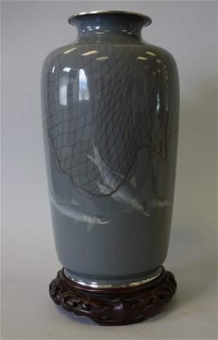 Japanese Ando Jubei Cloisonne Enamel Vase