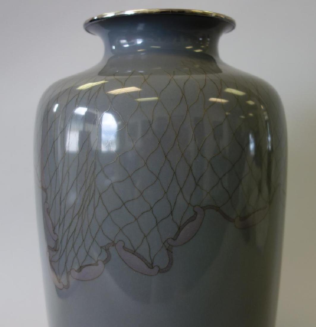Japanese Ando Jubei Cloisonne Enamel Vase - 7