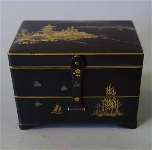 Otojiro Komai Damascene Iron Step-Back Box, Meiji