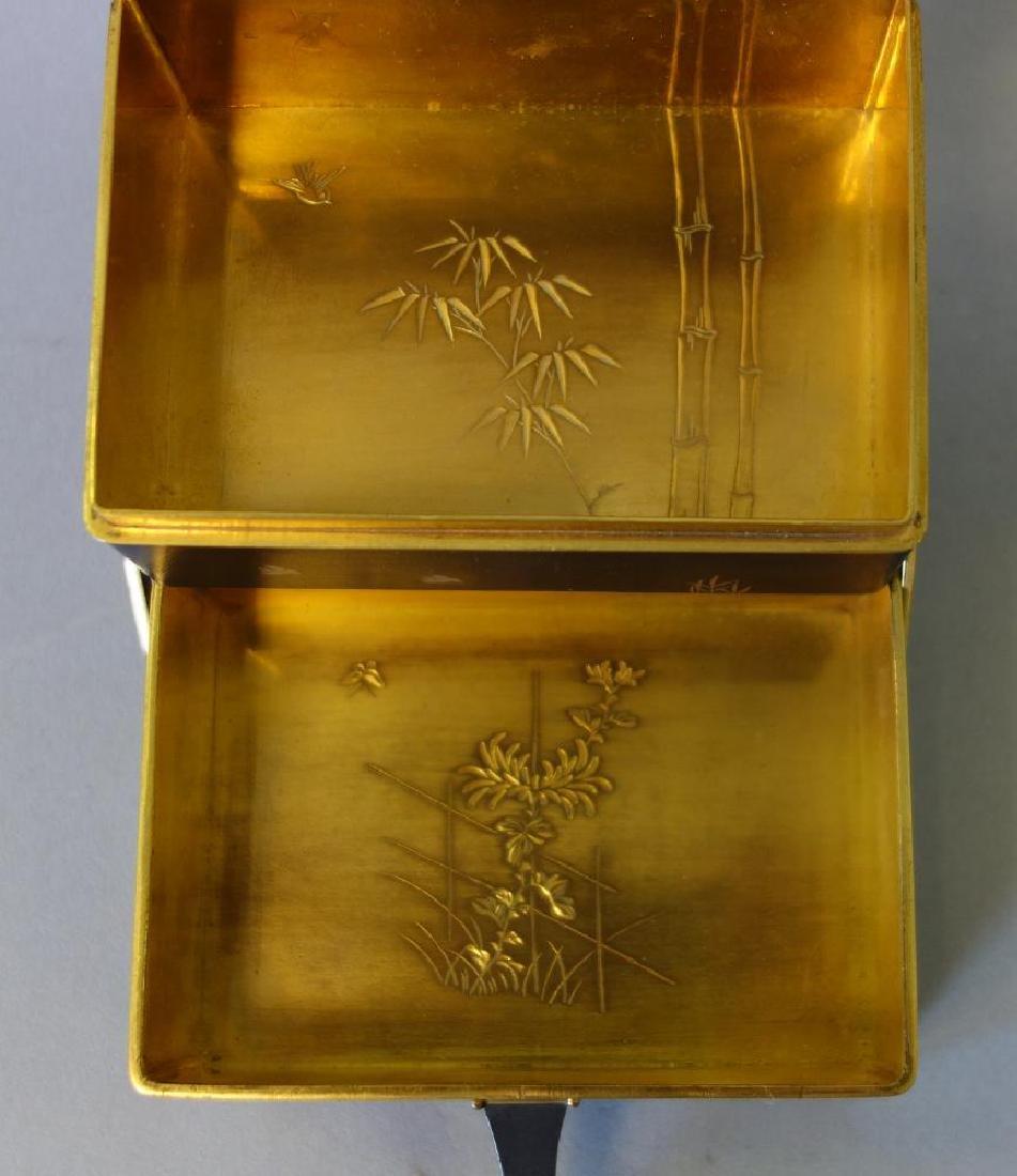 Otojiro Komai Damascene Iron Step-Back Box, Meiji - 6