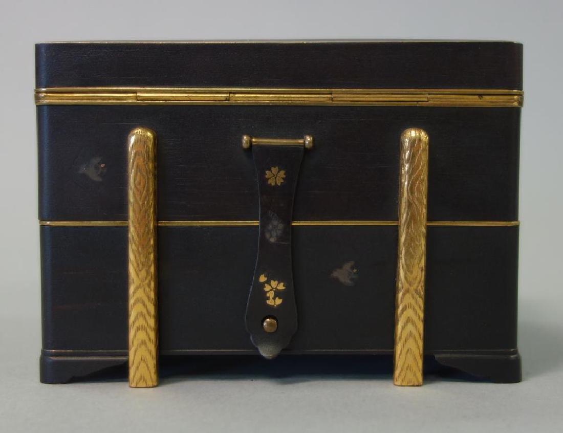 Otojiro Komai Damascene Iron Step-Back Box, Meiji - 7