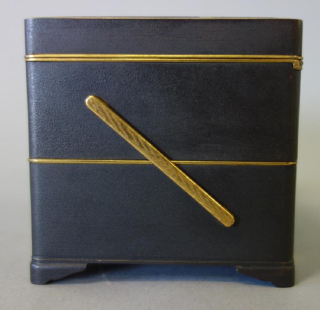Otojiro Komai Damascene Iron Step-Back Box, Meiji - 8