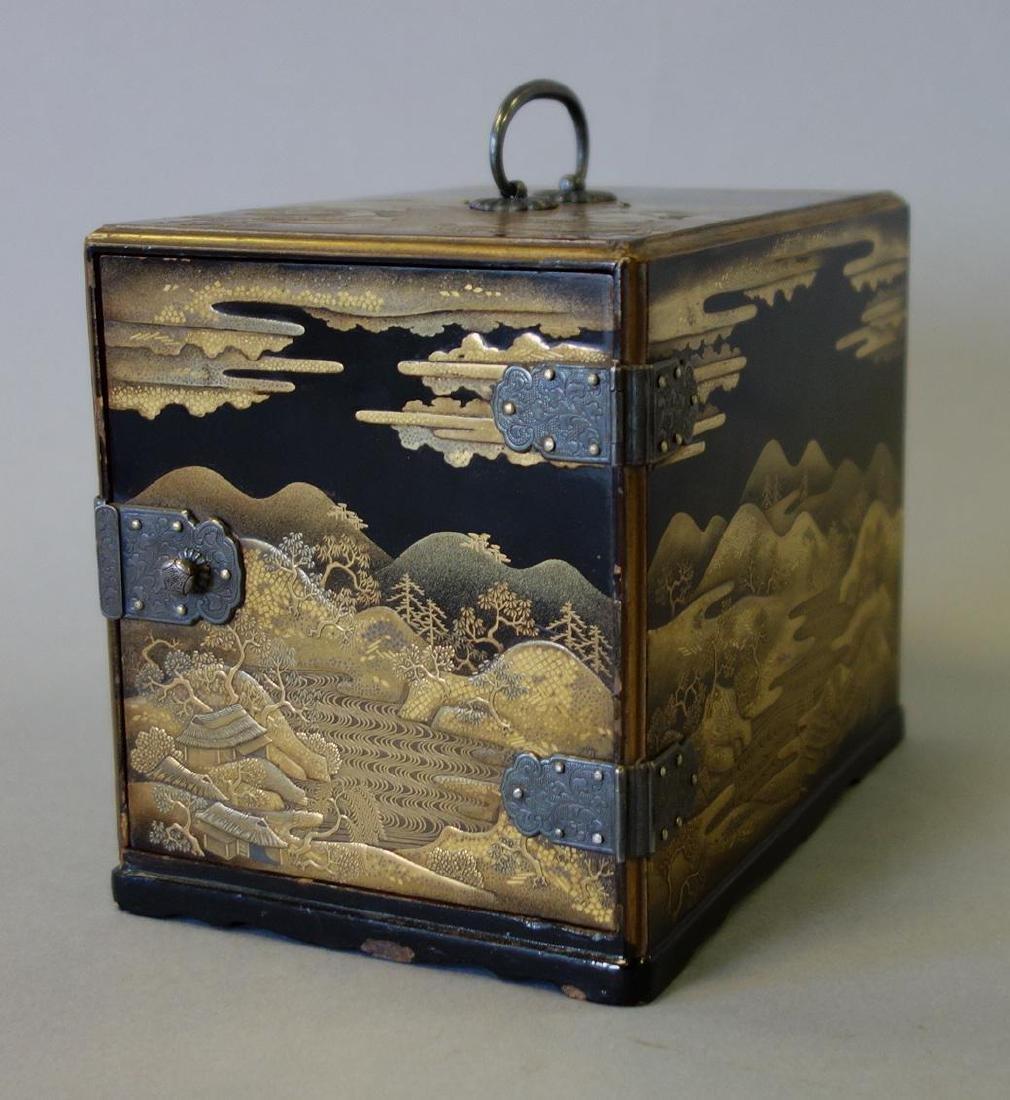 Fine Japanese Lacquer Miniature Cabinet, Meiji
