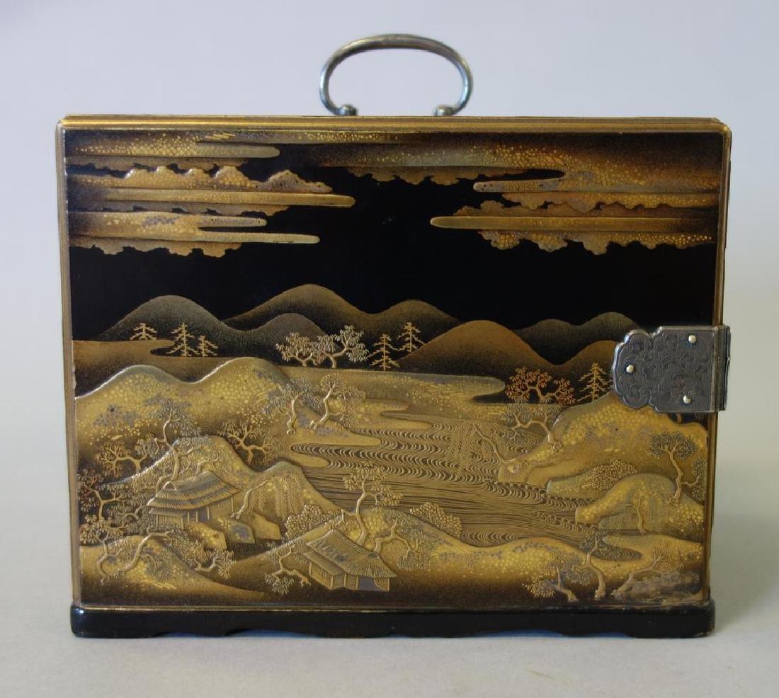 Fine Japanese Lacquer Miniature Cabinet, Meiji - 3