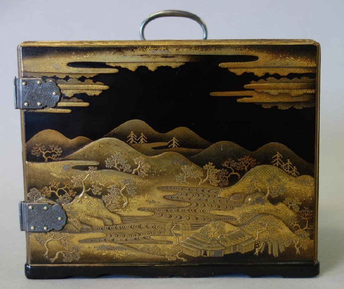 Fine Japanese Lacquer Miniature Cabinet, Meiji - 5