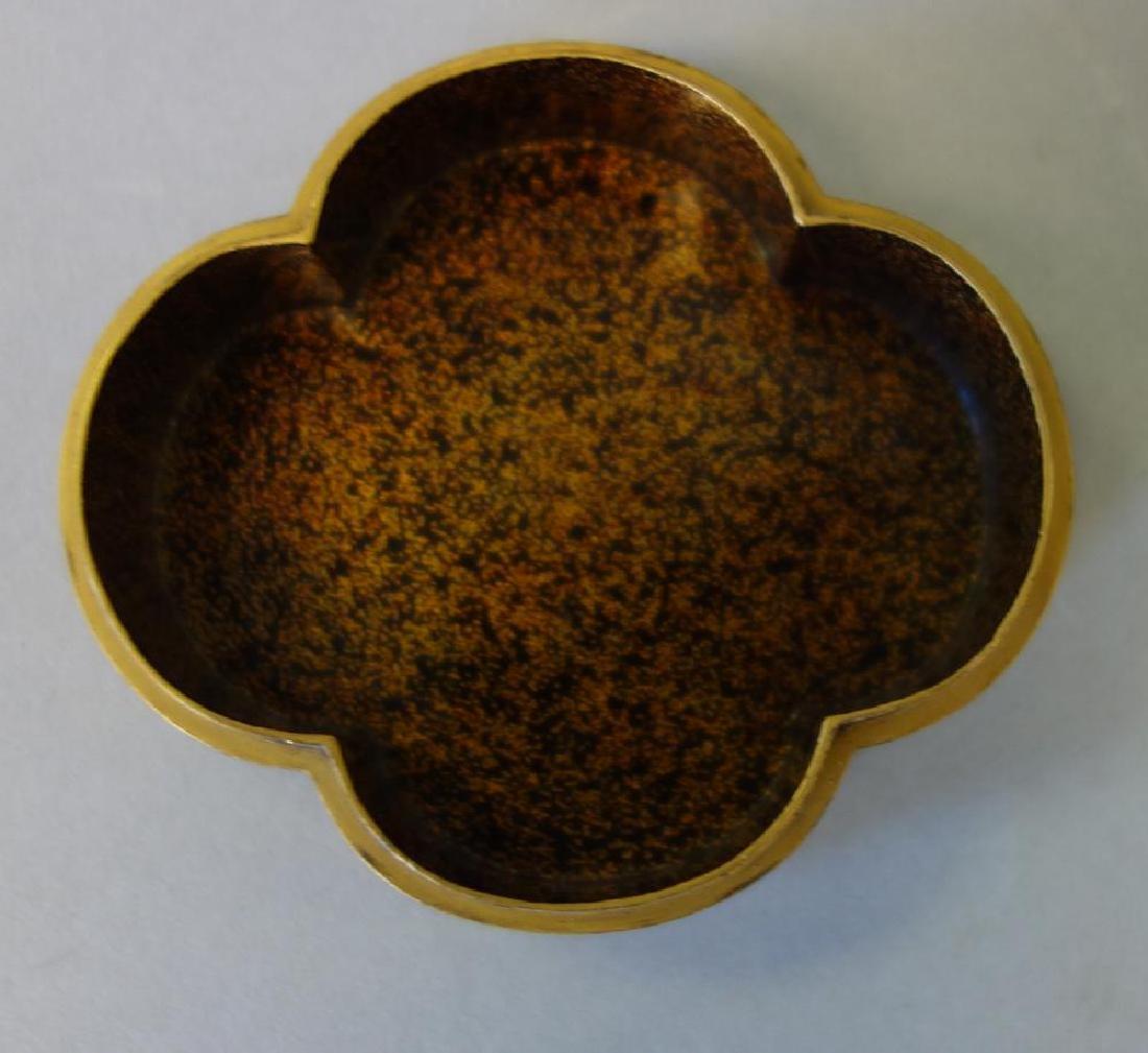 Japanese Gilt Lacquer Quatrefoil Box, Late Meiji - 3