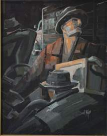 Herman Keys (Spokane WA 20thc) WPA Men Working