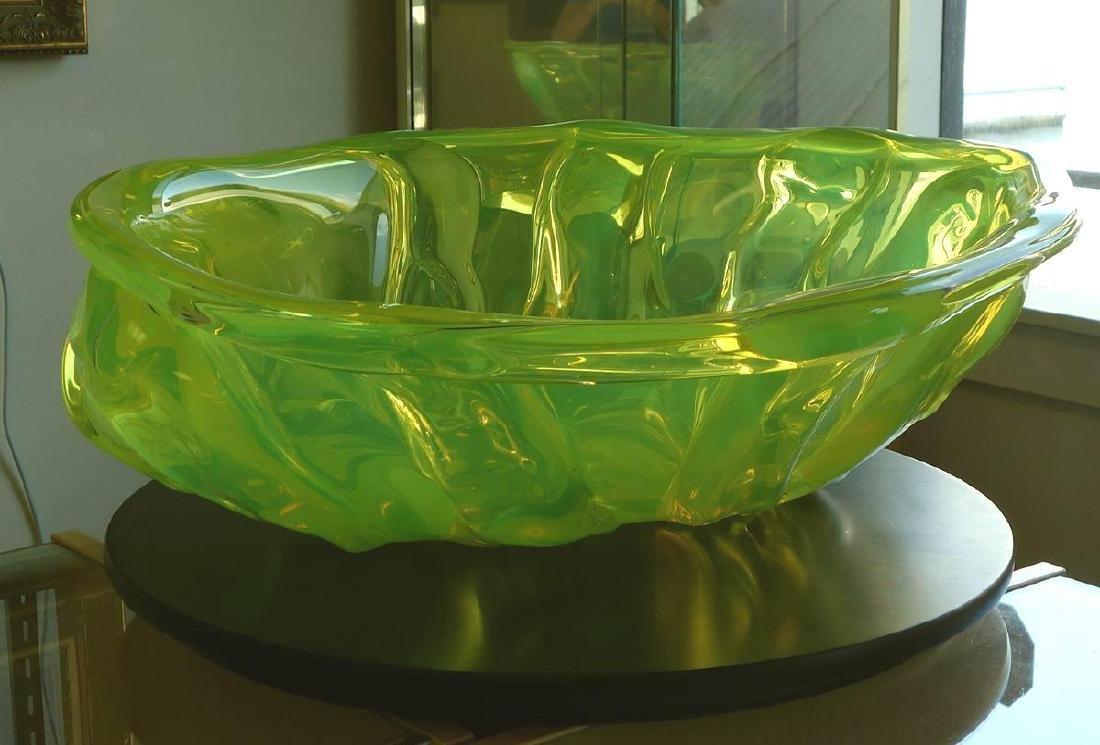 William Morris (b-1957) Uranium Yellow Rope Bowl
