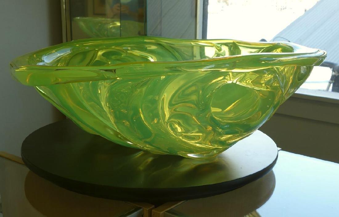 William Morris (b-1957) Uranium Yellow Rope Bowl - 2