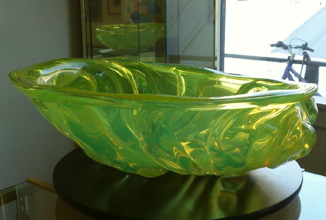 William Morris (b-1957) Uranium Yellow Rope Bowl - 3