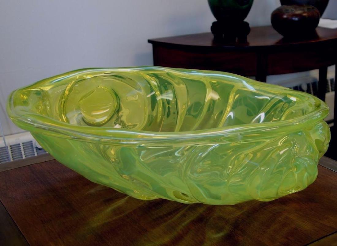 William Morris (b-1957) Uranium Yellow Rope Bowl - 4