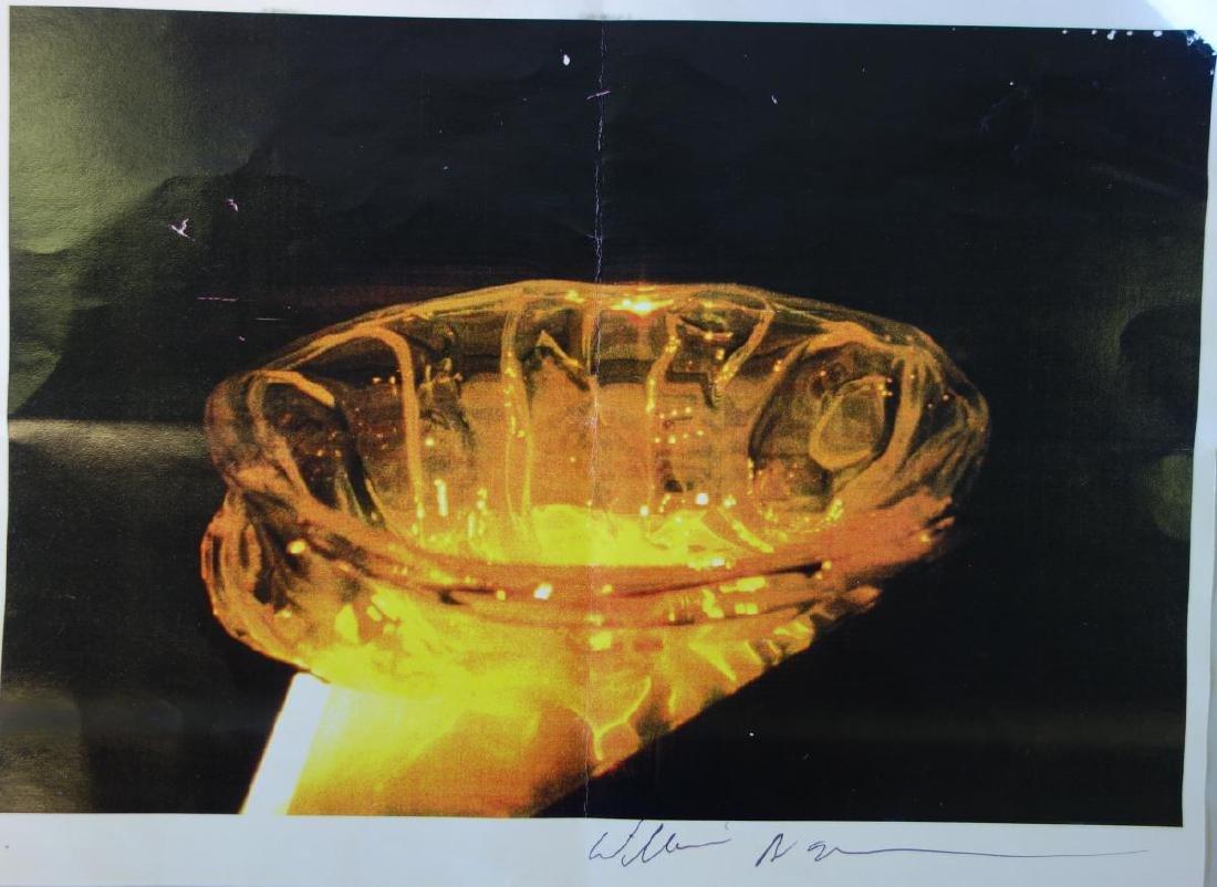 William Morris (b-1957) Uranium Yellow Rope Bowl - 5