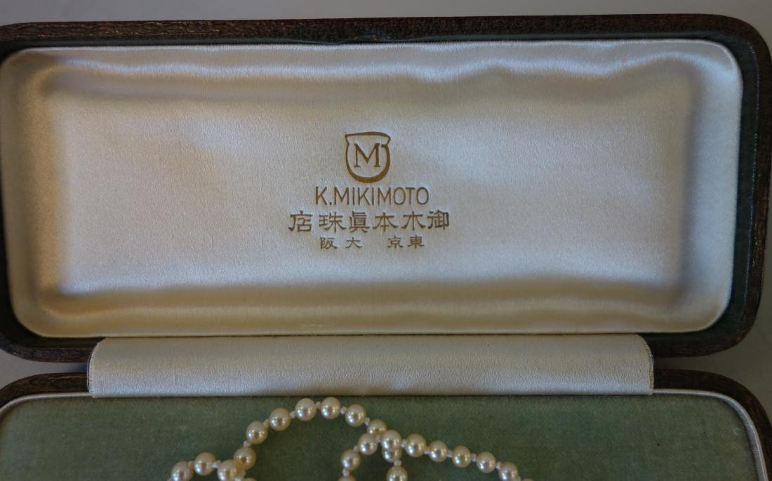 Mikimoto Pearl & Rose Cut Diamond Necklace - 4