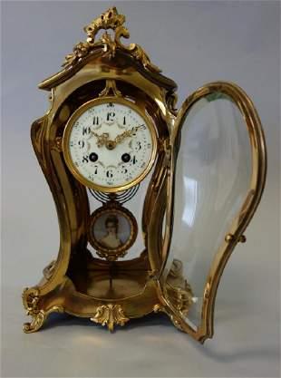 Tiffany & Co Bronze Mantel Clock, Japy Freres