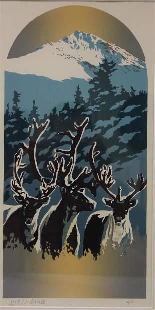 Byron Birdsall (b-1937, Alaska) Reindeer