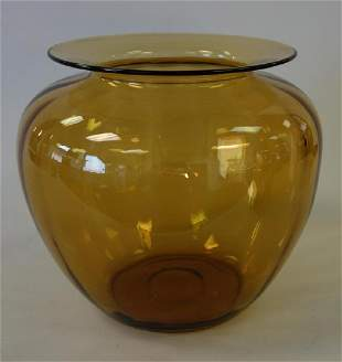 Large Steuben Amber Glass Vase, c.1925