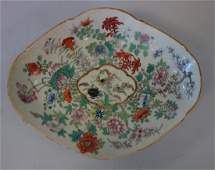 19thc Chinese Porcelain Footed Tazza, Gen Stilwell