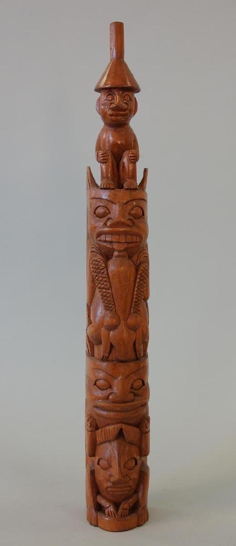 Jaalen edenshaw carving commemorative totem pole haida heritage