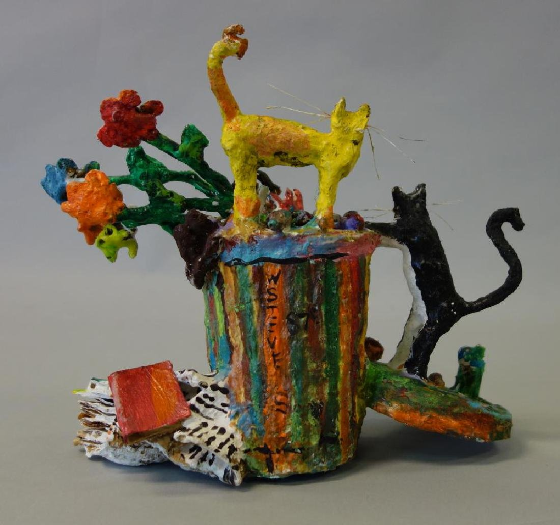 William H Stevens, Papier Mache Cat Sculpture - 3