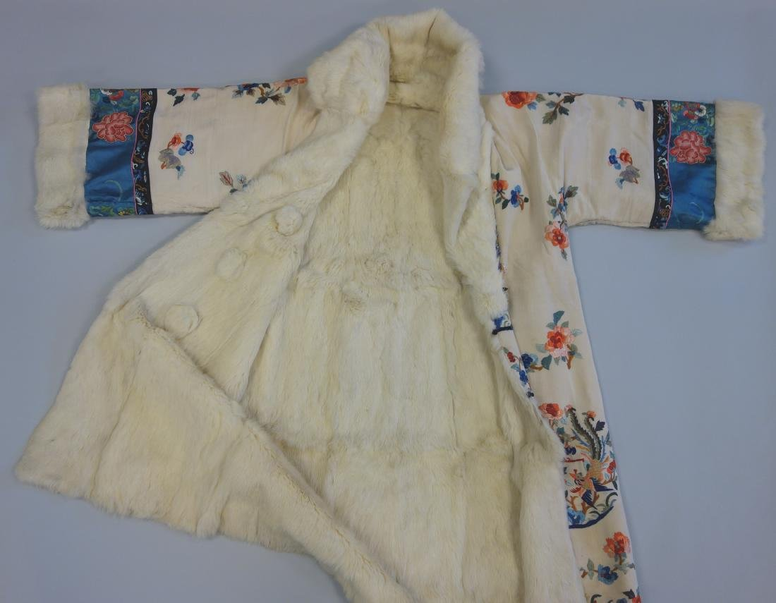 Chinese Embroidered Fur Trimmed Evening Coat - 6
