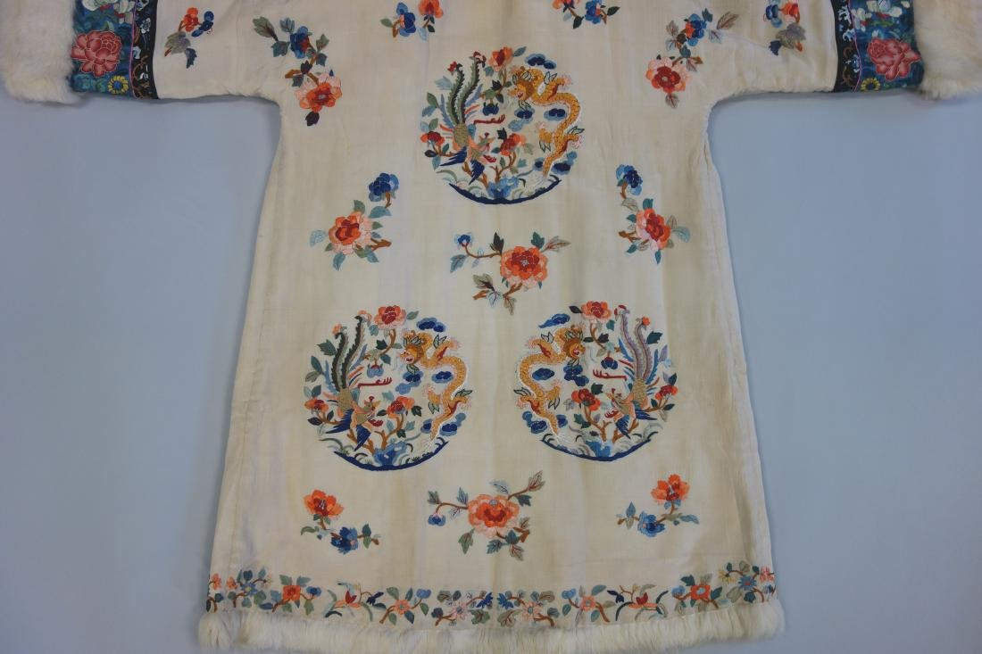 Chinese Embroidered Fur Trimmed Evening Coat - 7