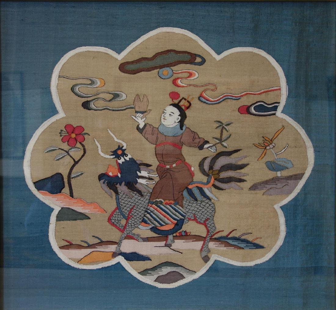 Chinese Kesi Silk Embroidered Tapestry Panel
