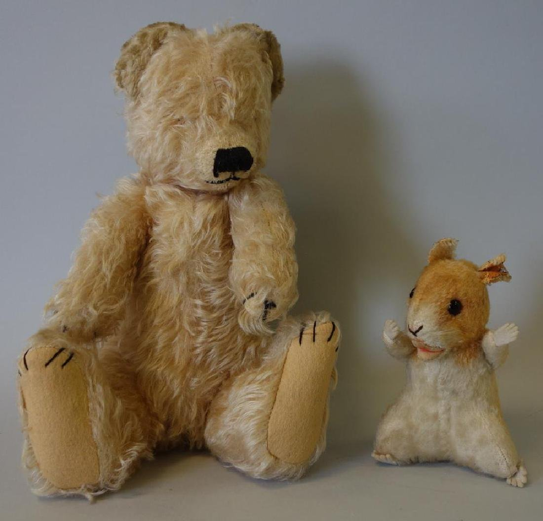 Merry Thought Teddy Bear & Steiff Squirrel