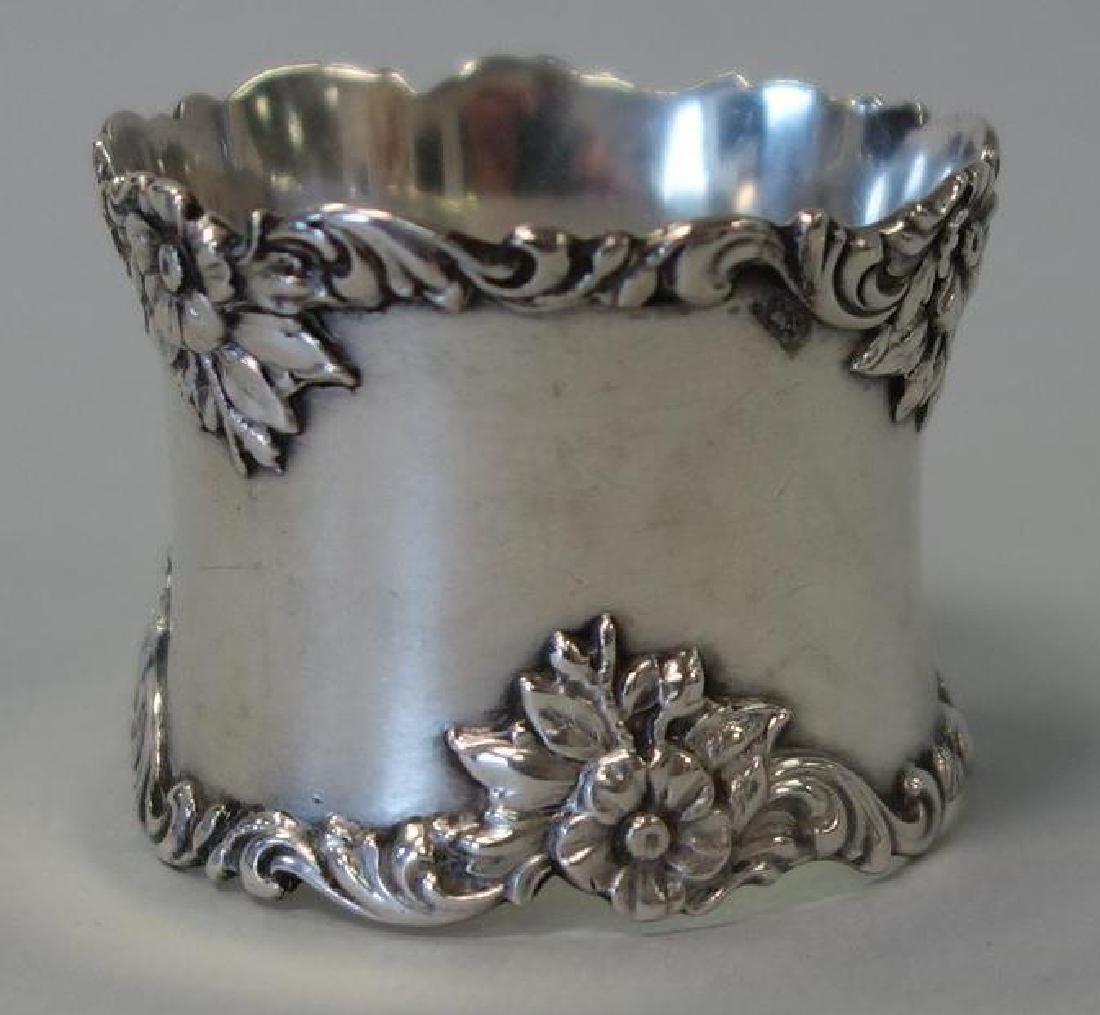 4 Sterling Silver Napkin Rings, Gorham + English - 2