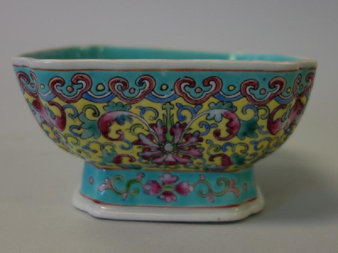 2 Chinese Porcelain & Enamel Bowls + Fruit - 2
