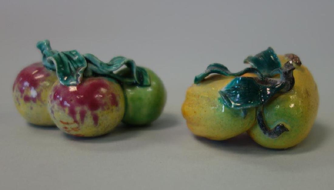 2 Chinese Porcelain & Enamel Bowls + Fruit - 4