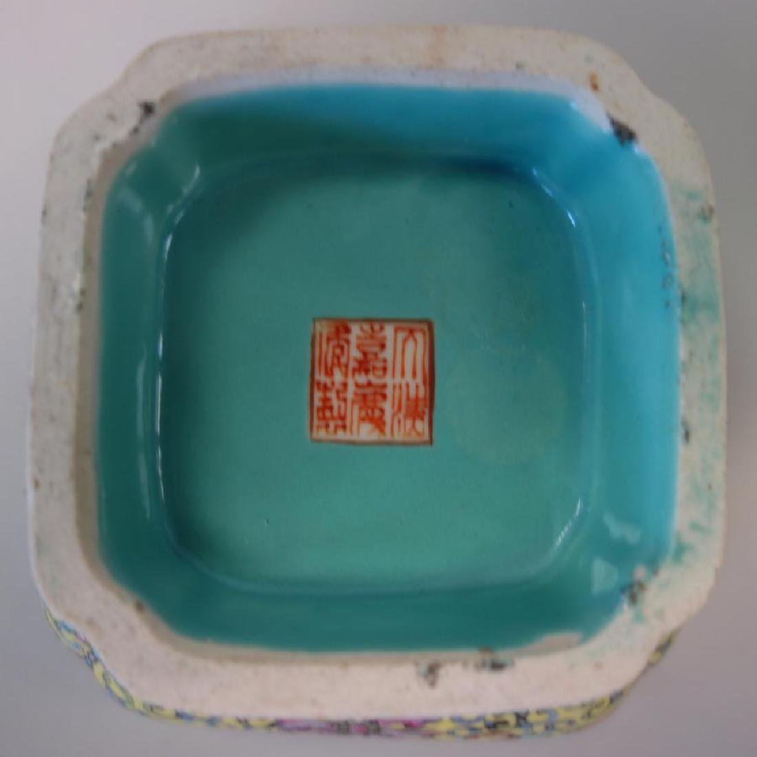 2 Chinese Porcelain & Enamel Bowls + Fruit - 5