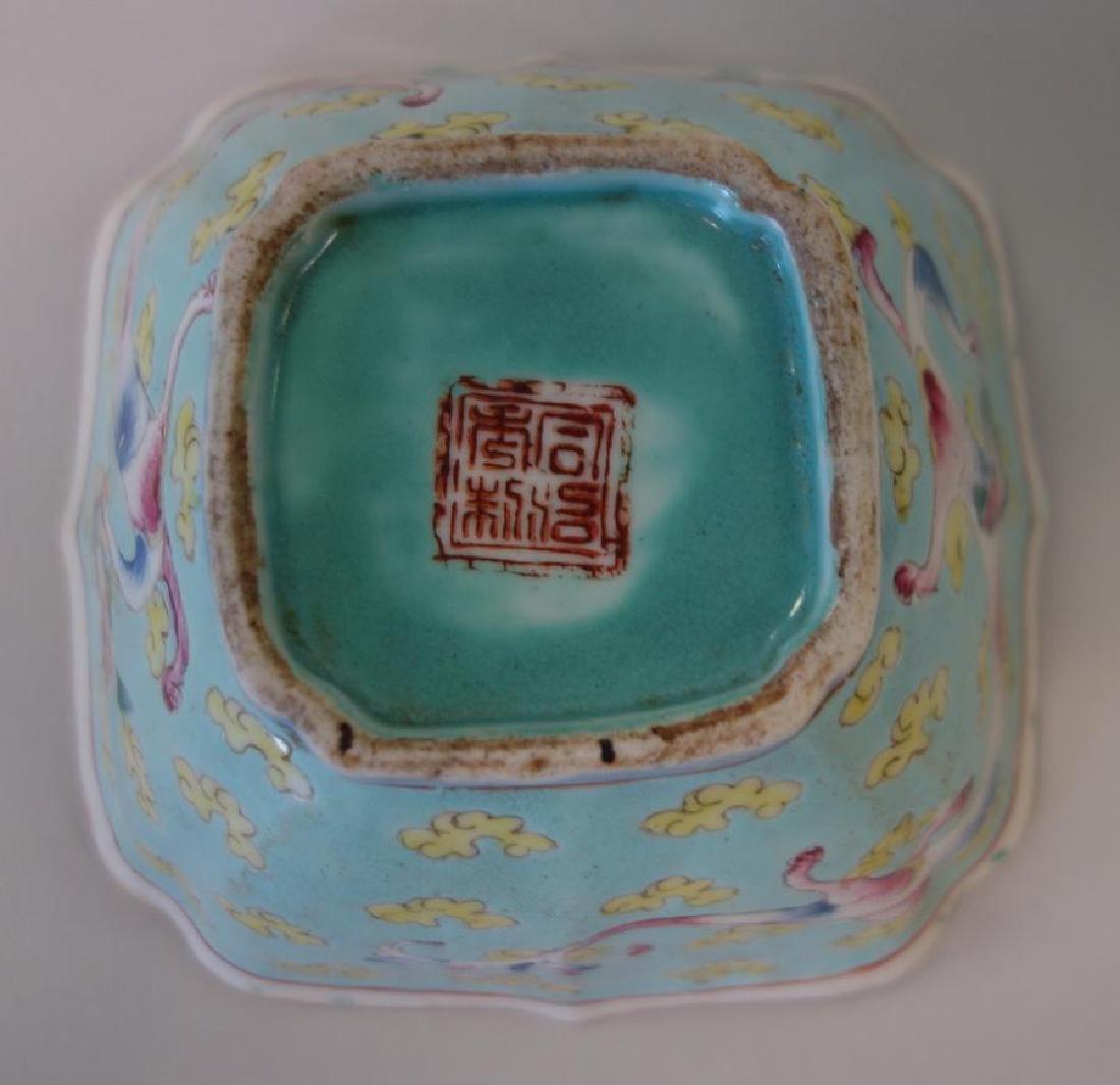 2 Chinese Porcelain & Enamel Bowls + Fruit - 6