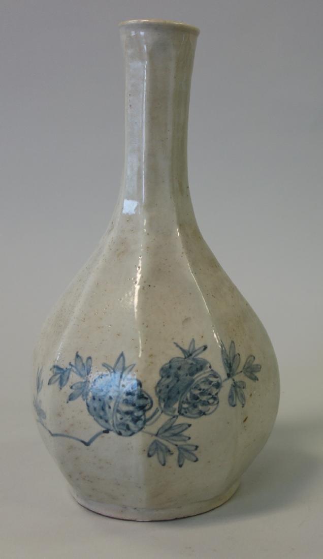 Korean Porcelain Bottle Vase, Yi Dynasty